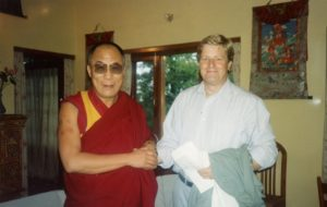 Meeting the Dalai Lama is one of the inspirations for my Garden for Wellbeing
